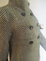 Foto 2 NEU* Retro * Vintage- Style * Punkte * Polka Dots * Wolle *  Jacke ''idpdt'' Gr. 40- 42/ S- M, schwarz- grau- cremè- beige *
