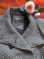 Foto 4 NEU* Retro * Vintage- Style * Punkte * Polka Dots * Wolle *  Jacke ''idpdt'' Gr. 40- 42/ S- M, schwarz- grau- cremè- beige *