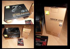 Foto 2 NIKON D7100 KIT + NIKON AF-S DX 18-200 + SDHC 16GB (NEU)