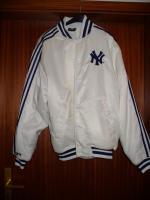 NY Yankees Satin Bomberjacke