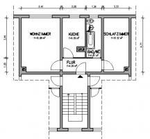 Foto 2 Nachmieter gesucht: in 07629 Hermsdorf (Thür) 39m², 2-Zimmer, 302,76€ Warm