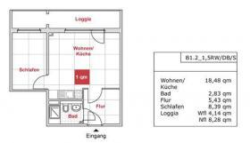 Nachmieter gesucht! 1,5-Wohnung im Zentrum Dresden