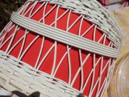 Foto 3 Nähkorb für Wolle oder Bastelutensilien Kabel sonstiges Hocker Retro Vintage Pandon Ära