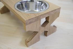 Foto 2 Napfständer, Futterbar, Futternapf aus Holz