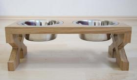 Foto 3 Napfständer, Futterbar, Futternapf aus Holz