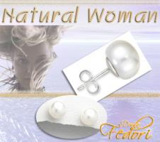 Natural Woman Ohrstecker La Perla 925 Sterling Silber