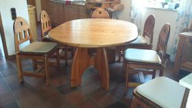 Naturmöbel naturmöbel esszimmer tisch mit 6 stühlen original wasa in mehlingen