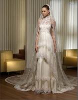 Neckholder I Linie Brautkleid Hochzeitskleid Neu Gr.34-Gr.58 von Modekarusell