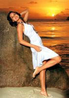 Neckholder-Kleid weiß von Beach Time - Größe 32 - Neu