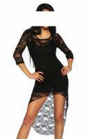 Negligé-Kleid aus Spitze schwarz Gr. XS-M - OVP - NEU