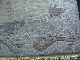 Nepal - modernes Design - Wolle - handgeknüpft - ca. 300 x 250 cm