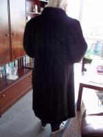 Foto 2 Nerzmantel Saga Mink rot braun lang