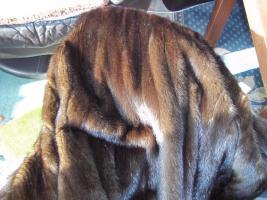 Foto 4 Nerzmantel Saga Mink rot braun lang