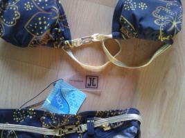 Neu Joop Bikini in XS Gr. 34 Gold/Braun edel & sexy Markenbikini