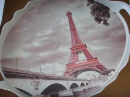 Neu Serviertablett Tablett Paris Geschenkidee / Mokkatassen Set