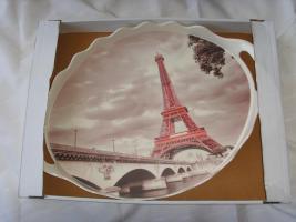 Foto 2 Neu Serviertablett Tablett Paris Geschenkidee / Mokkatassen Set