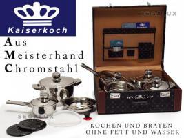 Neu!!!!KAISERKOCH Kochtopf-Set 16 Tlg mit Koffer