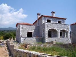 Neubau Doppelhaush�lfte in der Mani/Griechenland