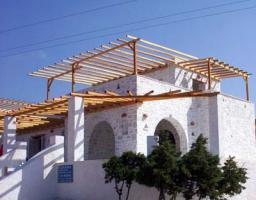 Neubauvillen auf der Insel Paros/Griechenland