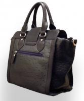 Foto 2 Neue David Jones Handtasche Designer Bag dunkelblau Straußen-Prägung