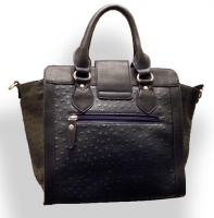 Foto 3 Neue David Jones Handtasche Designer Bag dunkelblau Straußen-Prägung