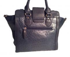 Foto 3 Neue David Jones Handtasche Designertasche Markentasche Shopper Bag dunkelblau Schultertasche Shoppertasche Citytasche