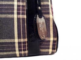 Foto 2 Neue Handtasche von David Jones Markentasche Damentasche Bag karierte Tasche lila vieolett