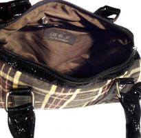 Foto 4 Neue Handtasche von David Jones Markentasche Damentasche Bag karierte Tasche lila vieolett