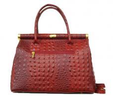 Foto 3 Neue Ledertasche mit Kroko-Prägung Tasche in Kroko Optik Ledertasche Businesstasche