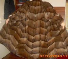Neuer Bisam-Mantel lang, Echtpelz