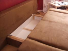 Foto 3 Neuw.Couch in Braun, Schlafcouch, sehr gem�tlich, in wuppertal an selbstabholer