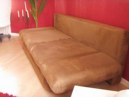 Foto 4 Neuw.Couch in Braun, Schlafcouch, sehr gem�tlich, in wuppertal an selbstabholer