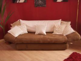 Foto 6 Neuw.Couch in Braun, Schlafcouch, sehr gem�tlich, in wuppertal an selbstabholer