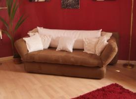 Foto 7 Neuw.Couch in Braun, Schlafcouch, sehr gem�tlich, in wuppertal an selbstabholer