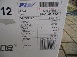 Foto 3 Neuwertige Proline Alufelgen 6,5Jx15 ET38 für Mercedes
