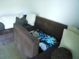 Foto 3 Neuwertige, dunkelbraune, Schlafcouch abzugeben
