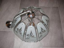 Neuwertige, sch�ne H�ngelampe mit Glaselementen