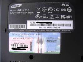 Foto 6 Neuwertiges Netbook Samsung NC10-anyNet , schwarz,