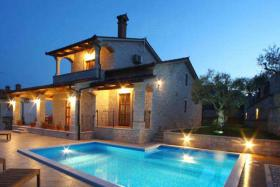 New build Stone villa with a magnificent panoramic view/Croatia