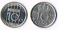 Foto 2 Niederlande 10 Cent Koningin Juliana und Beatrix .