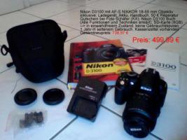 Nikon D3100 Spiegelreflexkamera mit Objektiv (18-55mm)