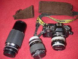 Nikon FG 35mm Spiegelreflex-Kamera, analog