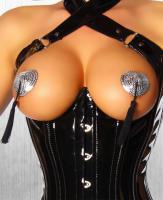 Nipple Pastie Herzform silber