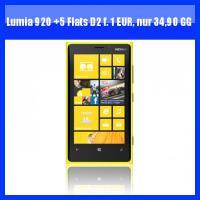 Nokia Lumia 920 mit Vodafone Vertrag u. 5-fach Flatrate für 1 Euro, monatliche GG nur 34,90 Euro, frei Haus, keine Anschlußgebühr
