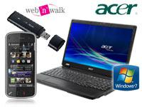 Nokia N97 transition black +Acer Extensa 5235-902G16N Notebook +T-MOBILE wnw stick fusion II mit Ver
