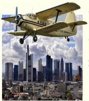 Nostalgie Rundflug über die Skyline von Frankfurt im größten Doppeldecker der Welt
