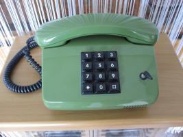 Nostalgie-Tastentelefon in gr�n