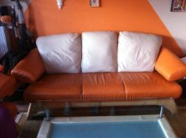 ! Notvekauf ! Kler Disigner Couch Echtes Leder 3-2-1