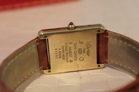 Foto 3 Nur was für Kenner! Original Cartier Tank Argent mit seltenem Ziffernblatt mit Papieren und Box!