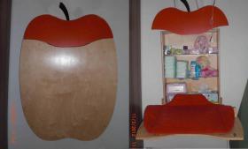 owo apfel wand wickeltisch wickelapfel wickelkommode mit wickelheizstrahler mit halterung np. Black Bedroom Furniture Sets. Home Design Ideas